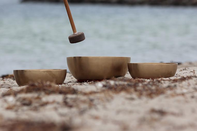 Meditation Klangskåle gilleleje strand 2016